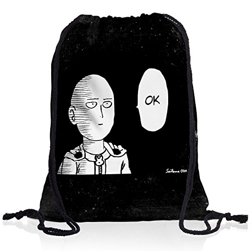 CottonCloud Saitama OK Manga One Punch OPM Rucksack Tasche Turnbeutel Sport Jute Beutel