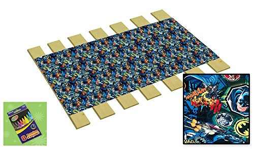 Custom Made in the U.S.A.! Youth/Toddler Size Batman Whaam Comic Book Hero Themed Bed Slats Bunky Boards - Cut to the Width of Your Choice (27'' Wide) - FREE box of Crayons with Purchase by The Furniture Cove