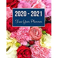 2020-2021 Two Year Planner: Colorful Rose Cover   2020 Planner Weekly and Monthly   Jan 1, 2020 to Dec 31, 2021   Calendar Views