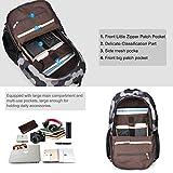 Vbiger Laptop Backpack Oxford Computer Shoulder Bag Casual School Bags with Charging Port
