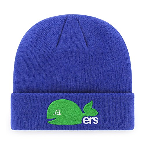 NHL Men's Hartford Whalers OTS Raised Cuff Knit Cap, One Size, Vintage