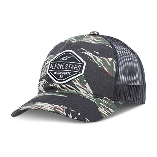 Alpinestars Edge - Alpinestars Men's Curved Bill Structured Crown Snap Back Camouflage Flexfit Hat, Flavor Military, OS