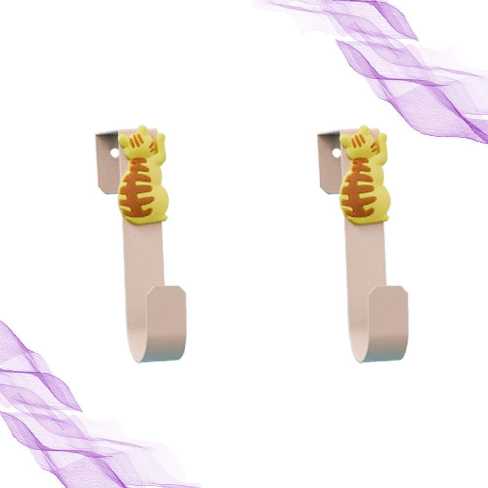 Ganchos para Llaves Colgante Decorativo con 4 Ganchos para Puerta De Entrada Gancho para Llaves Llavero Llaves Montado En La Pared Metal Negro Decoraci/ón del Hogar Organizador De Llaves
