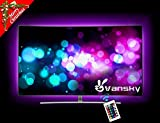 Vansky 80inch RGB Bias Lighting for HDTV USB Powered LED Strip Neon Accent Lighting Kit for Flat Screen TV LCD, Desktop PC (Diminish the eye strain and increase image clarity)