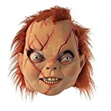 2015 - Chucky Head Mask Scary Evil Chucky Head Mask Halloween Ghost Puppet Costume Theater Prop