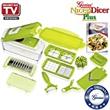 Nicer Dicer Plus by Genius | 13 pieces | Multi-Vegetable-Fruit-Tomato-Cheese-Onion-Potato-Chopper | Slicer-Dicer-Food-Salad-Cutter-Chopper-Pro | Grater | Peeler | Mandoline | As seen on TV