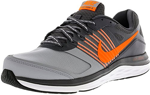 New Dual Fusion X Running Shoe Dark Grey/White/Total Orange OZdEpE2HaR