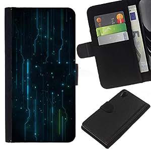 // PHONE CASE GIFT // Moda Estuche Funda de Cuero Billetera Tarjeta de crédito dinero bolsa Cubierta de proteccion Caso Sony Xperia Z2 D6502 / Electronics Electro Pattern /
