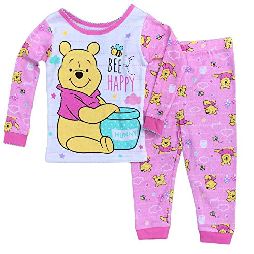 Disney Baby Girls Winnie The Pooh Cotton Pajama Set