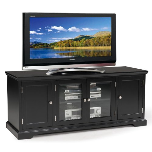 Leick Black Hardwood TV Stand, 60-Inch (Stand 60 Black Tv)