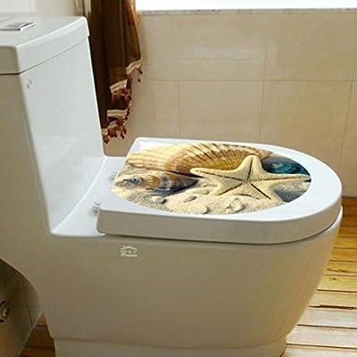 Iuhan Fashion Toilet Seat Wall Sticker Decals Vinyl Art Removable Decor