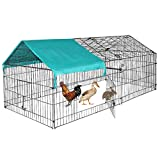 dog run house BestPet Chicken Coop Chicken Cage Pens Crate Rabbit Cage Enclosure Pet Playpen Exercise Pen