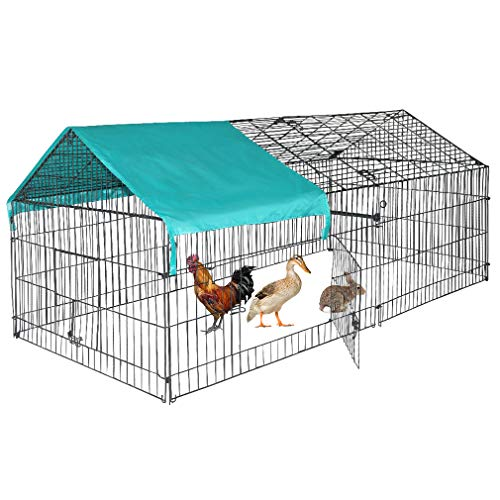(BestPet Chicken Coop Chicken Cage Pens Crate Rabbit Cage Enclosure Pet Playpen Exercise Pen)