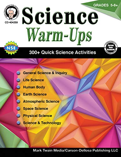 Carson-Dellosa Science Warm-Ups Resource Book, Grades 5-8+ (Assessment Practices That Improve Teaching And Learning)