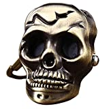 Youyoupifa Hollow Skull Heads Bronze Alloy Keychain Quartz watches(Unisex)