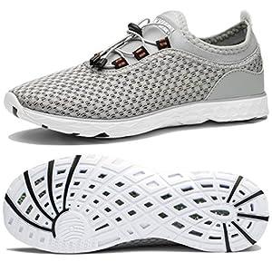 Tianyuqi Men's Mesh Slip On Water Shoes, 45 M EU / 11 D(M) US, Gray