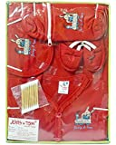 Tom And Jerry Cotton Baby Boy's And Girl's Clothing Gift Set (tomandjerry_3_Red_3-6 Months)