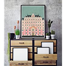 Grand Budapest Hotel minimalist Poster, Grand Budapest Hotel minimalist prints, Wes Anderson home decor, All Prints avialable in 9 SIZES and 3 type of MATERIALS