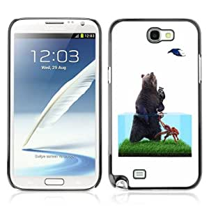 Designer Depo Hard Protection Case for Samsung Galaxy Note 2 N7100 / Bear