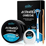 Teeth Whitening Powder Activated Charcoal Coconut -2.1oz(60g)-Teeth Whitening Kit-Bamboo Toothbrush and Teeth Floss Teeth Whitener - Tooth Powder-Oral Care Teeth Stain Remover (MINT2)