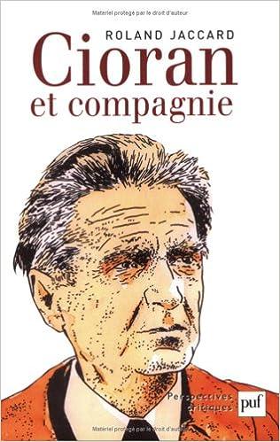 Livre Cioran et compagnie epub, pdf