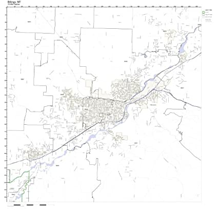 Amazon.com: Billings, MT ZIP Code Map Laminated: Home & Kitchen