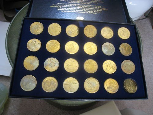 1984 Los Angeles Olympics Transit Token Coin Set