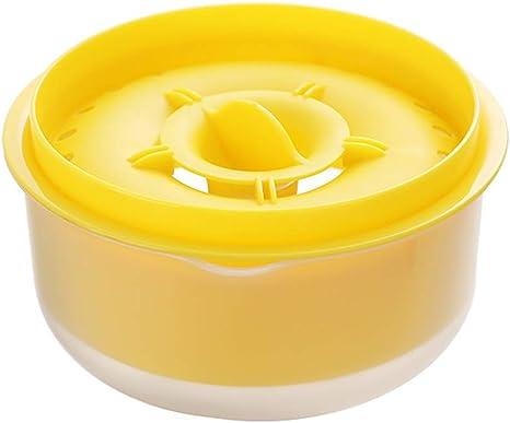 Gobesty Separador de huevo Yema de huevo clara, Separador de filtro de yema de clara de huevo con bandeja de goteo para una separación rápida y limpia ...