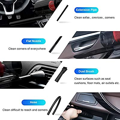 SONRU Car Vacuum Cleaner 7000PA 150W High Power Corded Car Vacuum DC12V Portable Handheld Low Noise Wet Dry Use for Quick Cleaning, Dual Filters, Carrying Bag: Automotive