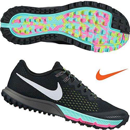 Nike Mens Zoom Terra Kiger 4 Trail Running Shoes Black/White/Volt Size 10