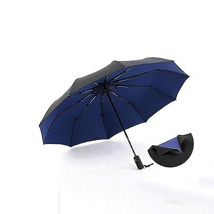 paraguas Doble Capa automática súper Grande Plegable Refuerzo Resistente al Viento Lluvia Masculina y Lluvia Doble