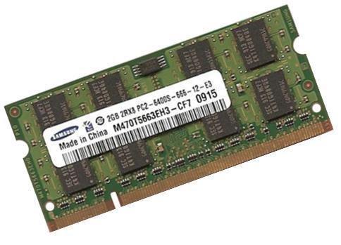4 opinioni per Samsung- Modulo RAM originale, per sistemi DDR2-800 (PC2-6400), 2 GB, 200 pin,