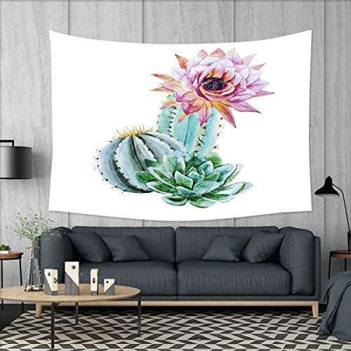 smallbeefly Cactus Tapestry Wall Tapestry Cactus Spikes Flow