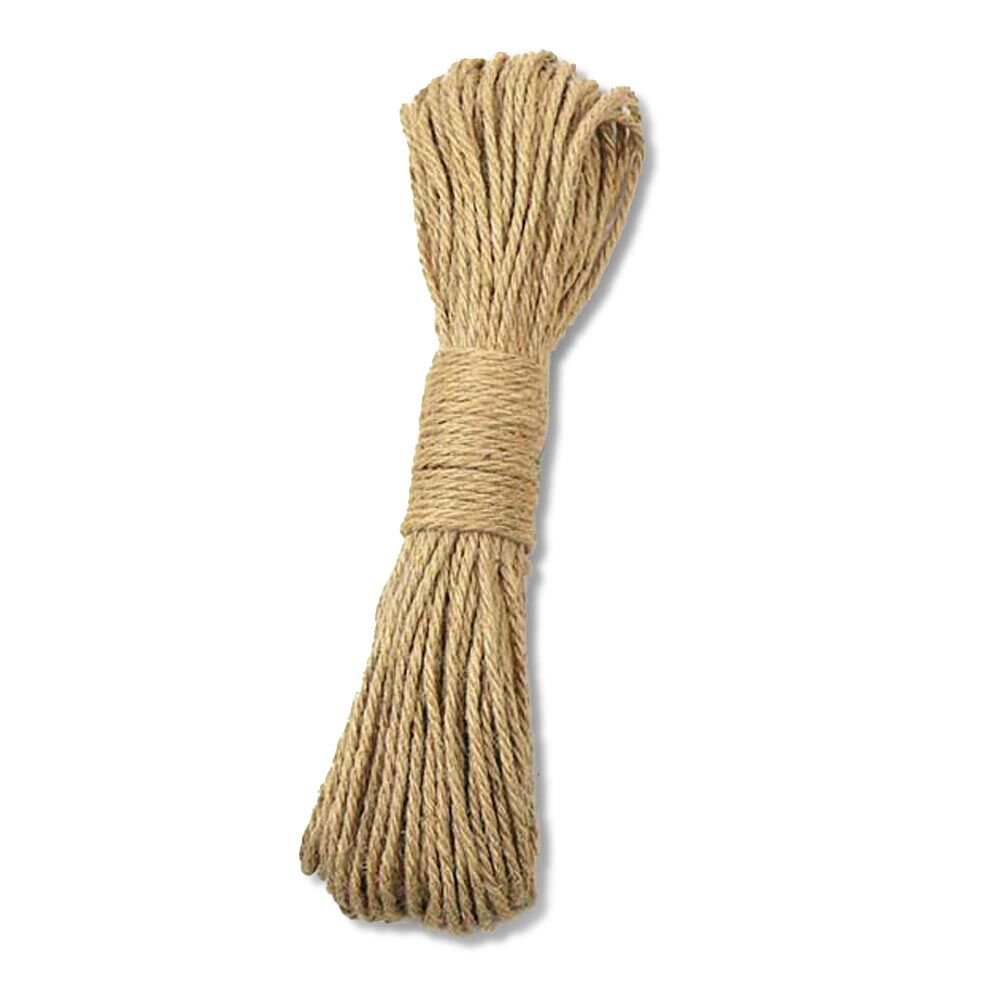KINGLAKE 100/% Natural Thick Strong Jute Rope 65 Feet 5mm 3 Ply Hemp Rope Cord for Arts Crafts DIY Decoration Gift Wrapping