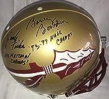Coach Bobby Bowden, Coach Jimbo Fisher, Charlie Ward, Chris Weinke, Jameis Winston Signed / Autographed Florida State / FSU Seminoles Authentic Proline Football Helmet - PSA DNA Certified