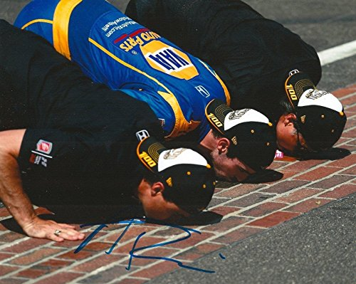 ALEXANDER ROSSI signed 8x10 INDY 500 KISS THE BRICKS photo IRL INDY with COA A - Autographed Extreme Sports Photos ()