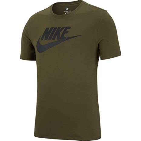34a73388837dc0 Amazon.com  NIKE Men s Futura Icon Tee Olive Canvas Black (Large ...