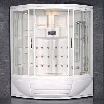 Perfect 87u0026quot; X 56u0026quot; X 56u0026quot; Sliding Door Steam Sauna Shower Enclosure