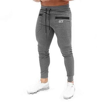 4b4e7132fc434 LuckyGirls Jogging para Hombre Pants Pantalones Deportivos Hombres Joggers  Largos Skinny Chándales  Amazon.es  Deportes y aire libre