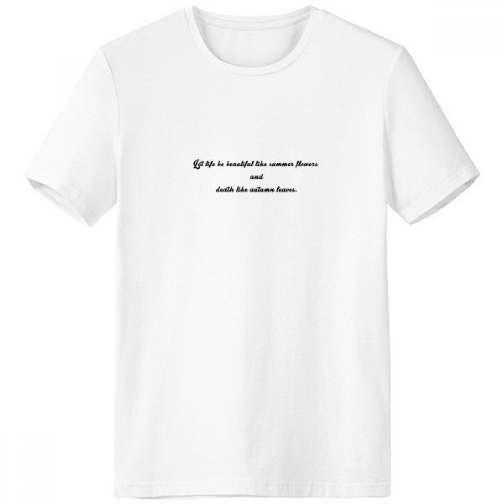 DIYthinker Poesía Cita de la Vida como el Verano Flor Escote de la Camiseta Blanca de Primavera y Verano de Tagless Comfort Deportes Camisetas de Regalos - Multi - S sku00382627f23460b3443-S