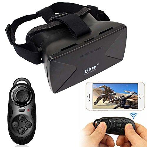 Sun YOBA Virtual Reality 3D Glasses for iPhone Google Cardboard + Controller Gamepad