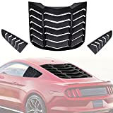 AVOMAR Matte Black ABS Rear Window Louvers and Quarter Side Window Scoop Louvers Fits for Ford Mustang 2015 2016 2017 2018