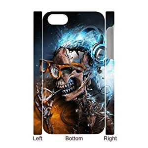 SOPHIA Phone Case Of Death skull Unique Cool Painting Fashion Style For Iphone 4/4s