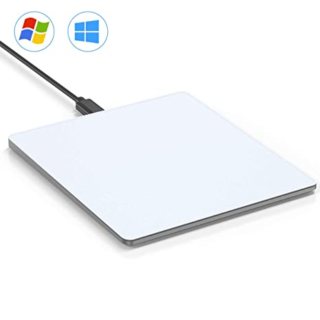 VOGEK Trackpad Touchpad, USB Wired Touchpad with Multi-Touch Navigation for  Windows 7 and Windows 10 on Laptop/Notebook/Desktop Computer (White Grey)