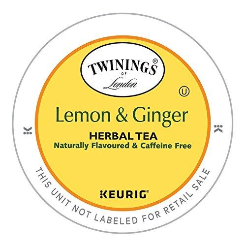 Twinings Lemon - Twinings Lemon and Ginger Herbal Tea, Keurig K-Cups, 48 Count