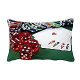 DIYthinker Chip Poker Dice Gambling Photo Throw Lumbar Pillow Insert Cushion Cover Home Sofa Decor Gift