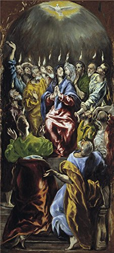 Perfect Effect Canvas ,the Vivid Art Decorative Canvas Prints Of Oil Painting 'El Greco Pentecost 1596 1600 ', 24 X 53 Inch / 61 X 135 Cm Is Best For Basement Decor And Home Decoration And Gifts