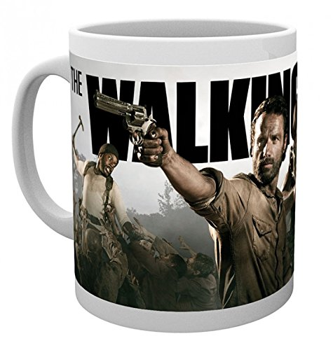 1art1 The Walking Dead, Rick Grimes and Daryl Dixon Photo Coffee Mug (4x3 inches) and 1x Surprise Sticker