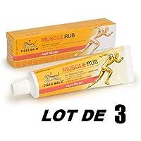 LOT 3 Crèmes chauffantes relaxantes - Véritable Baume du tigre - gel pommade muscles - sports et loisires - douleurs musculaires, articulaires, courbatures - Anti inflammatoire naturel - Tiger balm muscle rub - 30g