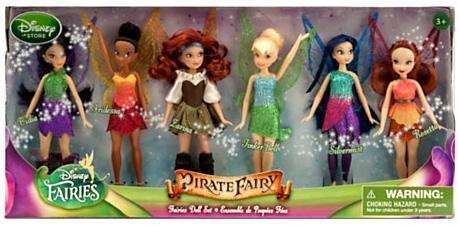 Disney The Pirate Fairy Exclusive 5 Inch Doll 6-Pack Faries Doll Set [Vidia, Iridessa, Larina, Tinker Bell, Silvermist & Rosetta]